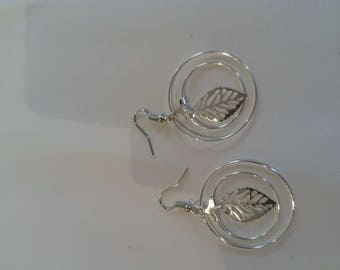 Pair of silver dangle earring