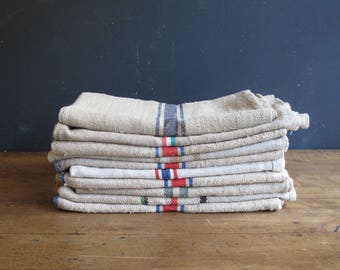 Vintage Romanian Grain sacks - Storage Laundry