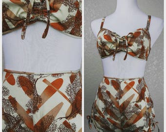 Fantastic Kamehameha for Miss Hawaii Vintage Playsuit Bikini