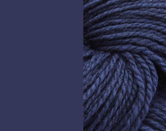 Wool, dark blue | bulky, 2 ply worsted quick knit pure wool yarn 100g/130m