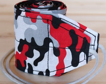 TraininGear Wrist Wraps Red Gray Camo Weightlifting Lifting Crossfit WOD Training Gear