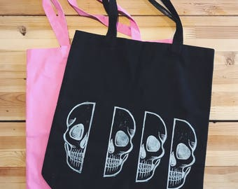 Skull Splice Tote Bag