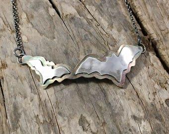 Double Bat Necklace
