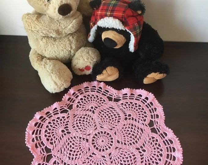 Pink napkin colored lace table decoration crochet decor lace crochet openwork doily crochet napkin great gift crochet round napkin .