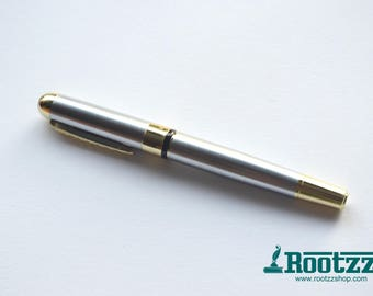 fountain pen gold and silver