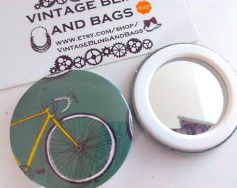 bicycle mirror, bicycle handbag mirror, bicycle mirror, mirrors, bicycle pocket mirror, bicycle gift, cycling gift, pocket mirror, mirror