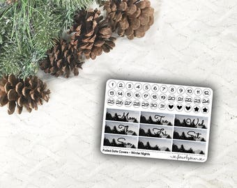 Foiled Date Covers - Winter Nights