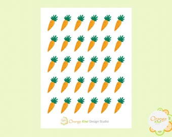 Carrot Stickers, Easter Stickers, Carrot Planner Stickers, Easter Planner Stickers, Erin Condren Life Planner