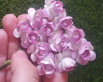 flowers of paper, DIY kits, hair clip designs, scrapbooking, artificial roses, headband, blue, pink, white