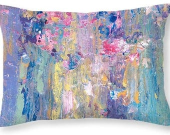 Decorative Pillow Cover, Colorful Accent Pillow, Throw Pillows, Custom Size Sofa Pillow, Boudoir Pillow, Printed Pillowcase