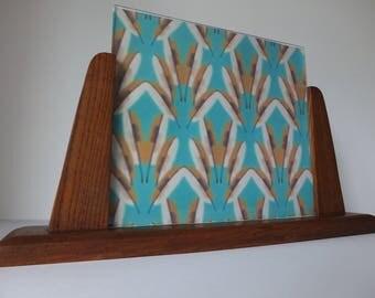 Art Deco Photo Frame, Large Oak Freestanding Photo Frame, Vintage Picture Frame