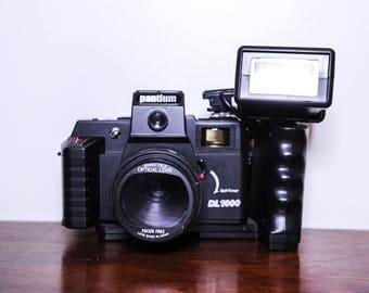 Pantium DL1000 35mm Plastic Film Camera with 50mm F6.3 Focus Free, Flash + Bag - LOMO