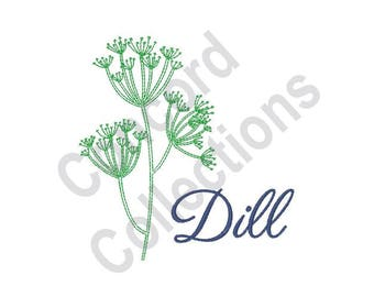 Dill - Machine Embroidery Design, Plant, Herb
