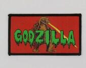 PATCH - GODZILLA - Gojira, Kaiju movie monster - woven iron-on king of the monsters