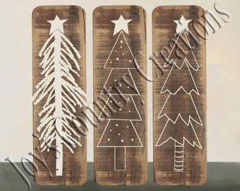 Primitive Christmas tree bundle   SVG, PNG, JPEG