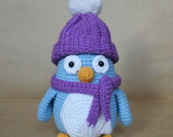 Crochet Stuffed Penguin Toy
