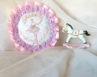 Ballerina embroidery brooch