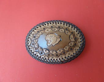Leather belt buckle / Canadian Made / Customining / STOCK # 7059 B .