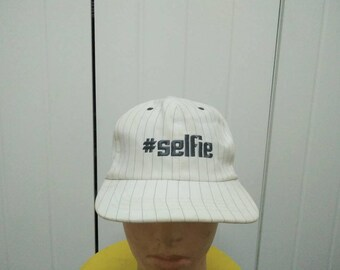 Rare Vintage #SELFIE Embroidered Cap Hat Free size fit all