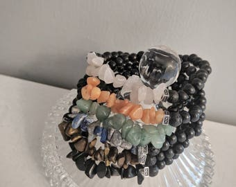 Semiprecious stone chip aromatherapy bracelets, diffuser jewelry, doterra, young living, essential oils, Valentine's day, mother's day