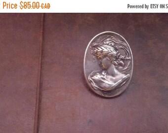 ON SALE Vintage Art Nouveau Style Silver Pin