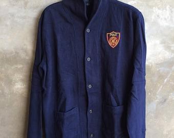 Vintage Polo Ralph Lauren Cardigan Shield Polo RL Logo Size XL women