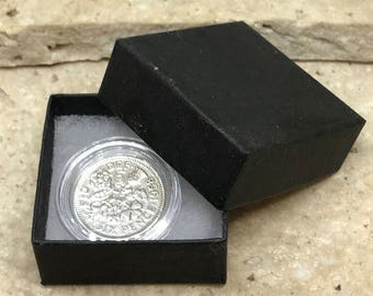 60th birthday gift 1958 Lucky Sixpence boxed with coin capsule