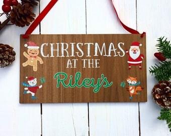Christmas at the sign, Christmas sign, personalised Christmas sign, Christmas sign wood, christmas gift 20CD