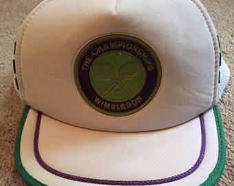 Vintage Wimbledon embossed trucker hat