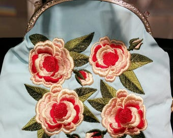 Bag for cosmetic/Clutch bag embroidery