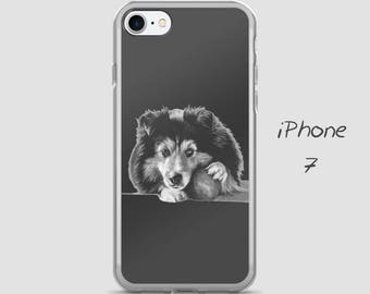 Dog iPhone Case, cute iphone 7 case, iPhone 6 Case, 6s Plus Case, iPhone 5/5S, iPhone SE, Black and white iPhone cover