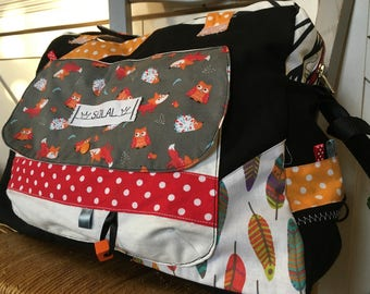 Diaper bag, weekend bag personalized * on order - fabric choices *.