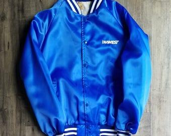 US WEST Nylon Club Jacket Size X-Large