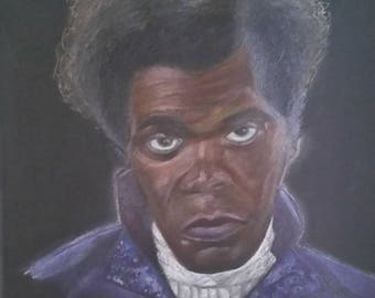 12x12-inch Colored Pencil on Wrapped Canvas: Mr. Glass
