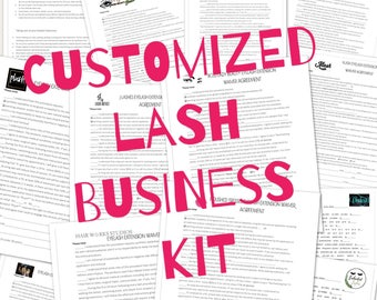 Eyelash Extensions Lash Business Kit -your Logo - Consent/Client Waiver - After Care - Mapping Work Sheet - Professional Forms - PDF digital