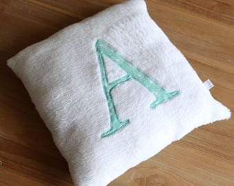 Small initial baby pillow