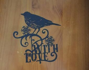 CHRISTMAS BIRD PAPERCUT unframed,  wall art, home decor, design by wildchild designs