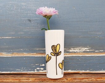 Yellow Single Stem Vase