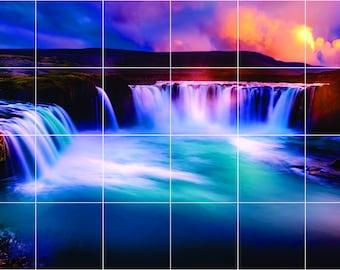 Beautiful waterfalls Tile Mural