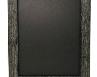 "22x28 1.75"" Rustic Black Solid Wood Picture Frame"