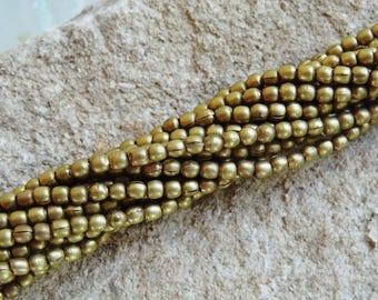 Set of 10 beads Nepalese brass