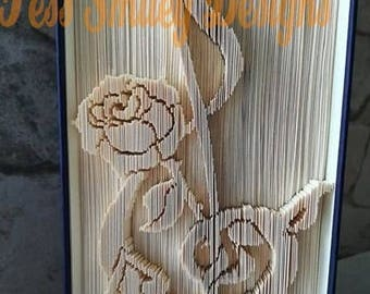 musical rose book folding pattern treble cleft bookart