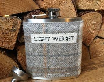 Personalised Hip Flask - Gift for Men - Whisky Gift - Whiskey Lover - Whisky Hip Flask - Tartan Hip Flask - Stocking Filler