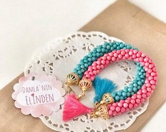 Beadcrochet bracelet