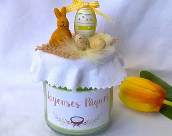 Spring & Easter green rabbit egg candle