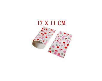 Set of 10 - bags for jewelry or small objects 17 X 11 cm paper gift bag