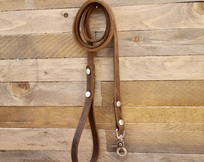 Leather leash, Leash, Dog leash, Pet gift, Vintage leather leash, ''Crazy horse'' leash, German leather leash, Strong lead, Handmade leash