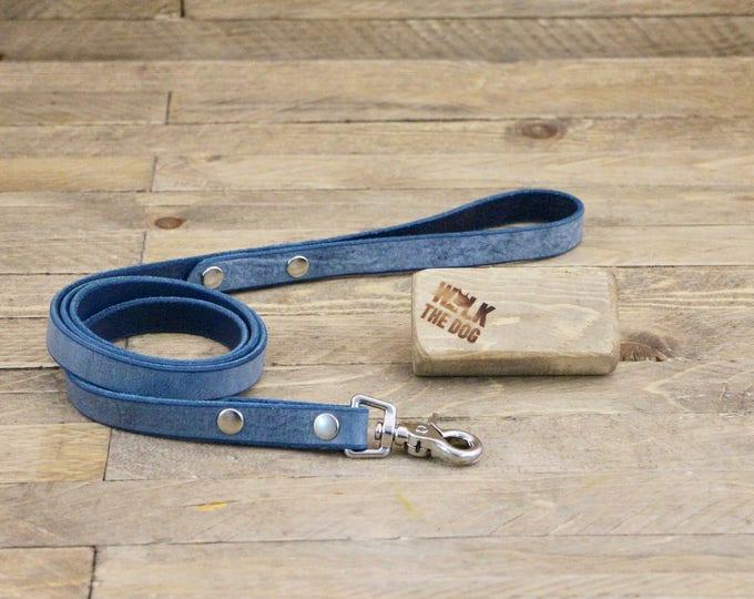 Leather leash, Leash, Dog leash, Pet gift, Leather leash, Strong leash, ''Cloudy sky'' leather leash, Strong lead.