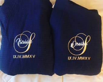 Personalized bath Robes (Set of 2)