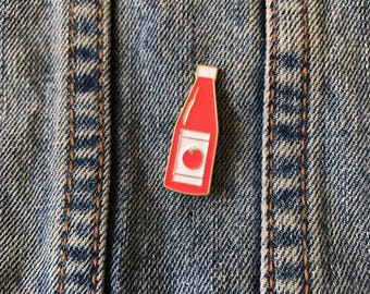 Sauce Ketchup Bottle Enamel Pin